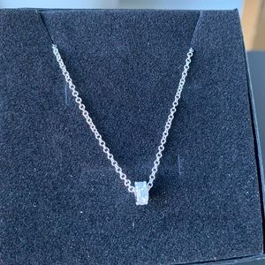 Brand new  Lucky bead Silver necklace with Zircon